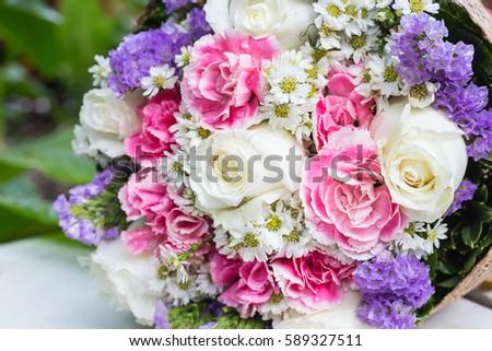 Bunch flowers gift on white floor stock photo edit now 589327511 bunch of flowers gift on white floor mightylinksfo