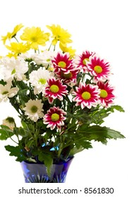 Bunch of flowers isolated on white background
