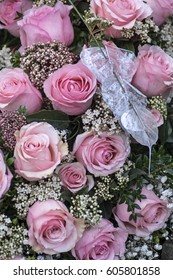 Bunch of flowers in pink