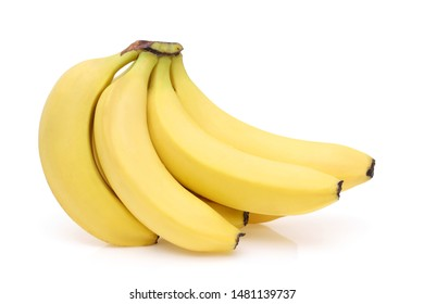 Bunch of fresh bananas isolated on white background
