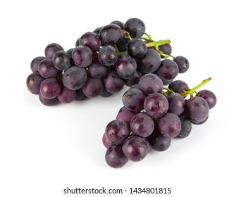 Bunch of fresh grape isolated on white background.