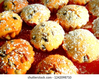 Bunch of Fresh Muffins, Blueberry and Sugar