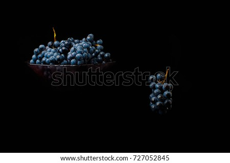 Bunch Fresh Red Grapes Splash Fruit Stock Photo (Edit Now
