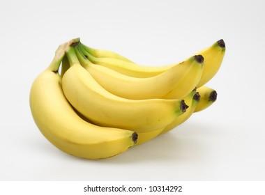 bunch fresh ripe organic sweet yellow bananas