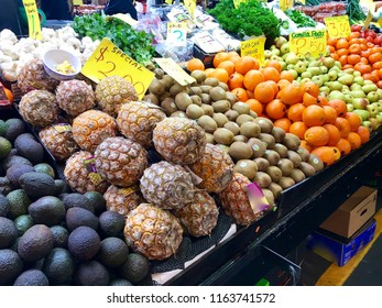 A bunch of fruit for sale at the Central Market in Adelaide, South Australia.
