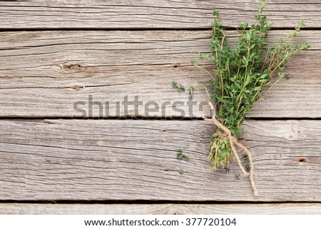 05b70856ba8c Bunch Garden Thyme Herb On Wooden Stock Photo (Edit Now) 377720104 ...