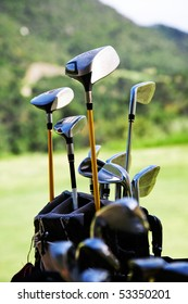 Bunch of golf clubs in the bag