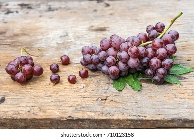 bunch grape on old wood.
