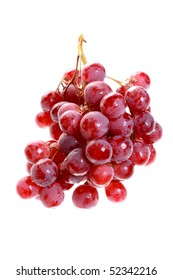 Bunch of grapes. Isolated object on a white background