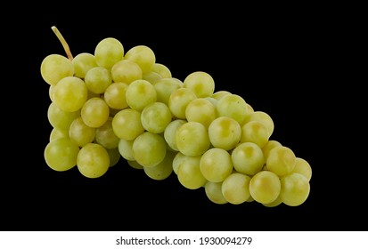 bunch of green grapes isolated with clipping​ path​