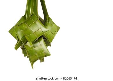 A Bunch of Green Ketupats
