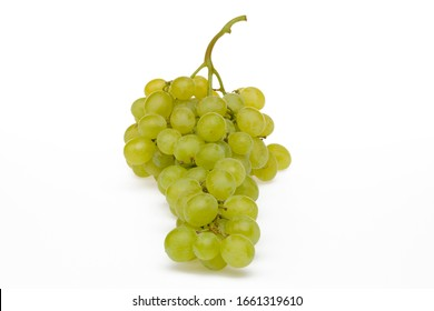 Bunch of green table grape variety from Italy (Matilde grape), isolated on white