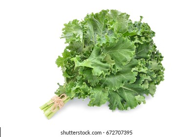 Bunch of kale isolated on white background