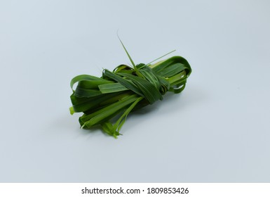 Bunch of Lemongrass or Cymbopogon isolated on white.