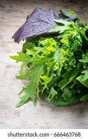 Bunch mix lettuce