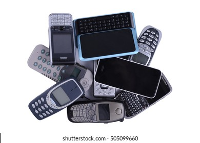 Bunch of old mobile phones