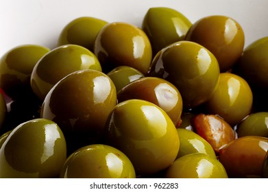 A bunch of olives