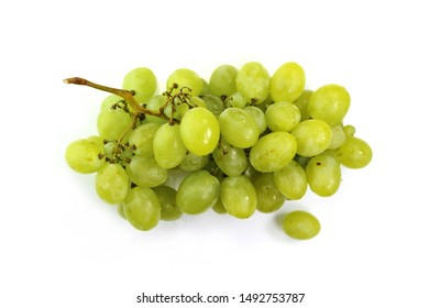 A bunch of overripe grapes isolated on white background.