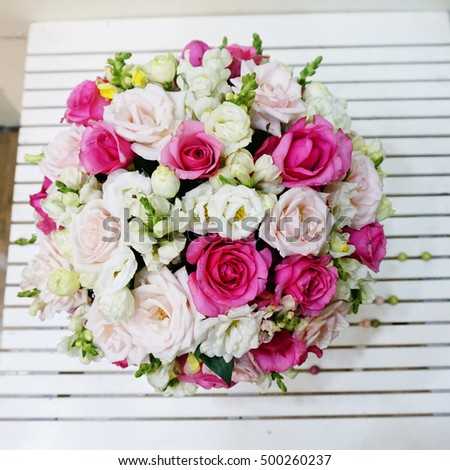 Bunch pink roses white roses flower stock photo edit now 500260237 a bunch of pink roses and white roses flower design flower decoration a mightylinksfo