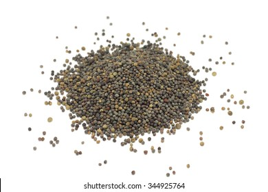 a bunch of rape seeds on a white background