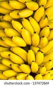 Bunch of ripe bananas background