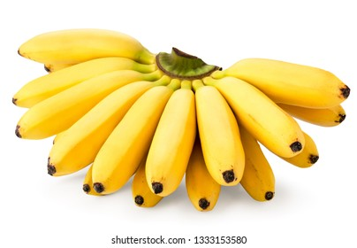 Bunch of ripe bananas on a white, isolated.