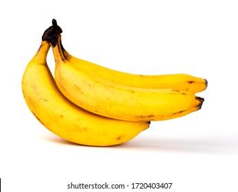 bunch of ripe fruit bananas isolated on white background