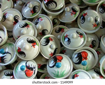 Bunch of saucer cups