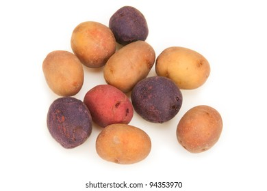 A bunch of small, new potatoes.