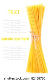 Bunch of spaghetti isolated on white background.