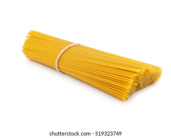 bunch spaghetti pasta  of isolated on white background