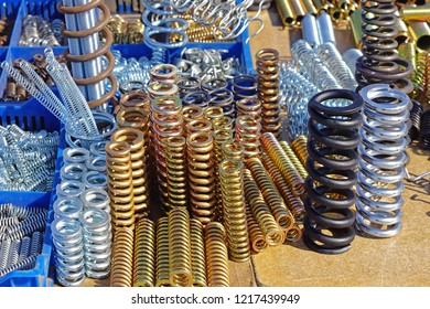Bunch of spring coils in various dimensions