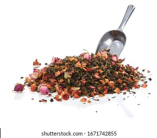 bunch of Tea leaves with spon