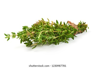 Bunch of Thyme, close-up, isolated on a white background