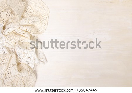 Bunch Traditional Knitted Tablecloth Crochet Laces Stock Photo Edit