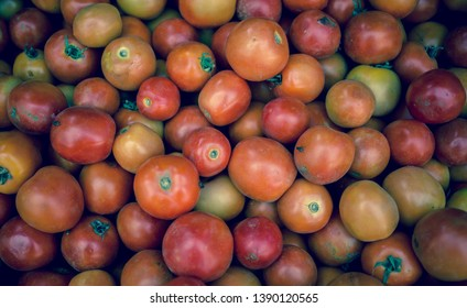 A bunch of ugly organic tomatoes