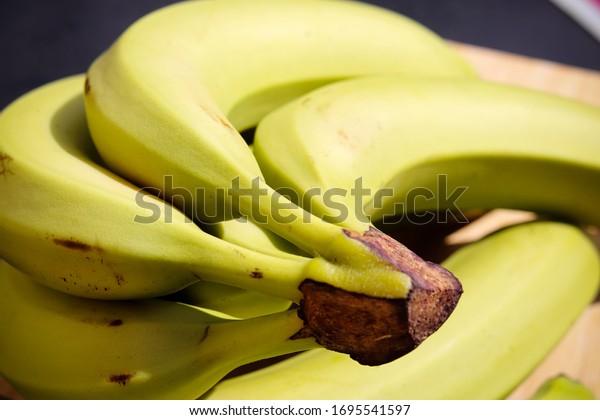 A bunch of yellow bananas