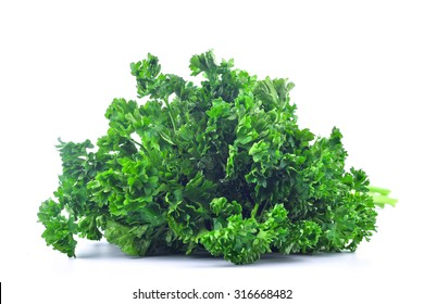 bunches of fresh parsley