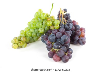 bunches of freshly harvested grapes