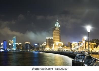The Bund at night, Old Part of World Expo City - Shanghai, China