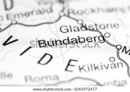 Bundaberg Australia On Map Stock Photo Edit Now 1045972477