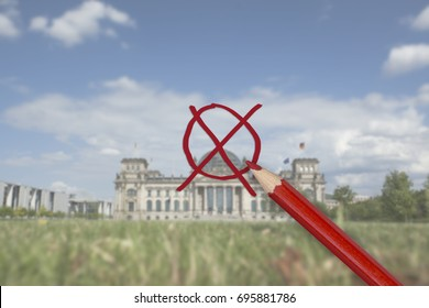 Bundestagswahl series for 2017 German Election. Reichstag Building. Reading Bundestagswahl: Federal Parliament Elections