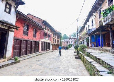 Bundipur, Nepal - October 20, 2018: Bandipur Village, a Small Charming Town in Nepal