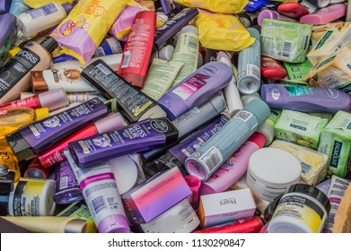 Bundle Of All Kinds Of Personal Care Products At The Dappermarkt At Amsterdam The Netherlands 2018