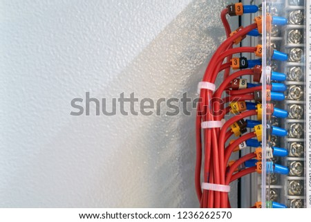 bundle electrical wires connected operator panel stock photo (edita bundle of electrical wires is connected to the operator panel or to the device