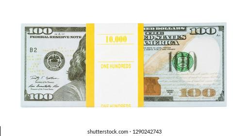 Bundle of money isolated on white background