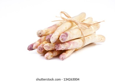 bundle of white asparagus