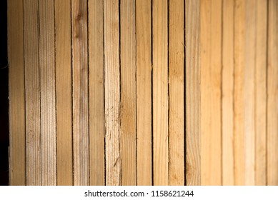 Bundled conifer wood of pale brown flooring materials