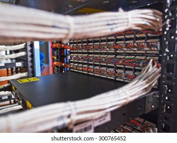 Bundled wires connecting to servers