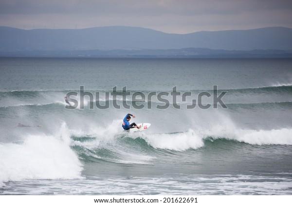BUNDORAN, IRELAND - JUNE 27: Geroid McDaid performs during Expression Session, part of annual Sea Sessions Surf & Music Festival, on June 27, 2014 in Bundoran, Ireland.